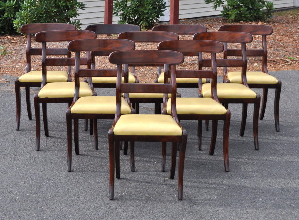 Set Ten Federal Dining Chairs - Inv. #11029