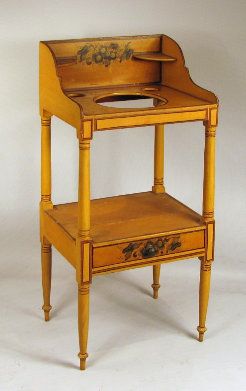 Decorated Sheraton Washstand - Inv. #10350
