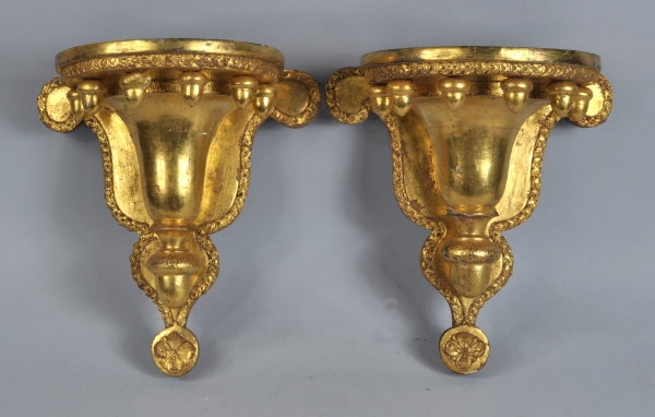 Pair Federal Gilded Wall Brackets - Inv. #10508