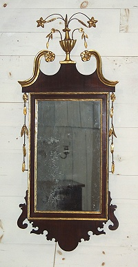 Hepplewhite Inlaid Mahogany Mirror - Inv. #9333