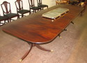 Superb Sheraton Figured Mahogany Three Pedestal Dining Table - Inv. #10104