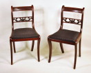 Set 12 Classical Mahogany Dining Chairs - Inv. #10385