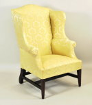 Hepplewhite Inlaid Mahogany Wing Chair - Inv. #10612