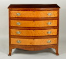 Hepplewhite Inlaid Mahogany Swell Front Chest - Inv. #10826