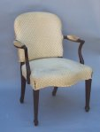 George III Upholstered Open Arm Chair - Inv. #9890